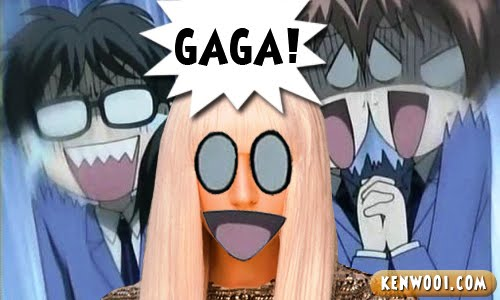 lady gaga anime shocked