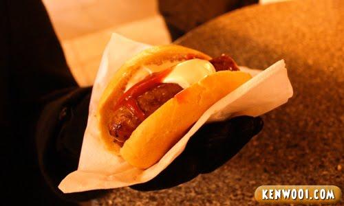 german sausage hotdog