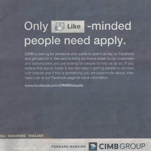 cimb facebook advert