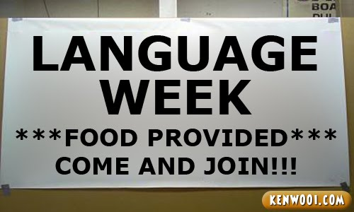 language week banner