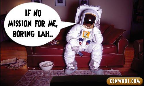 bored astronaut