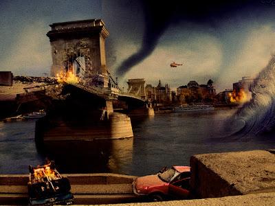 budapest flames Chain Bridge Lánchíd