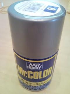 顏色先生(mr color)的銀色噴罐