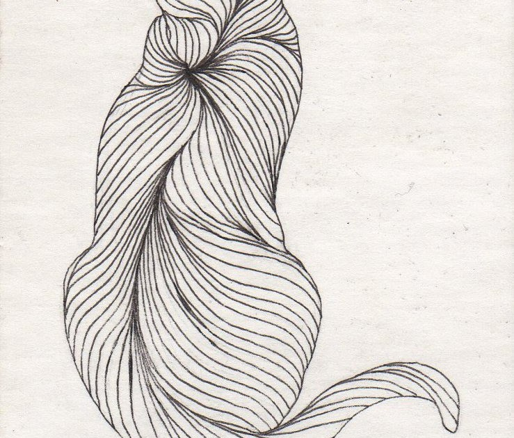 Contour Line Drawing Of A Cat : Parrish the artist aceo contour cat