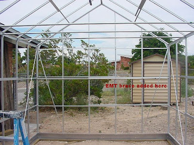 Building our Harbor Freight 10\' x 12\' Greenhouse: Part Five ...
