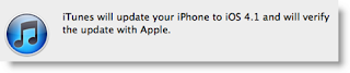 iTunes Update iPhone To iOS 4.1