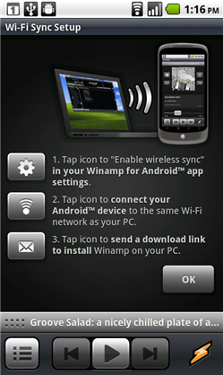 Winamp For Android 2.1 Phone