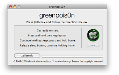 GreenPois0n RC5 Untether Jailbreak Tool For iOS 4.2.1