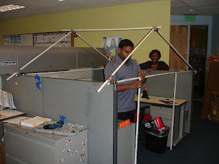 Superior STEP 1: Identify A Cubicle Of A Co Worker And Enlist The Help Of Several  People At Work. Home Depot Provides Great Construction Material For The  Frame.