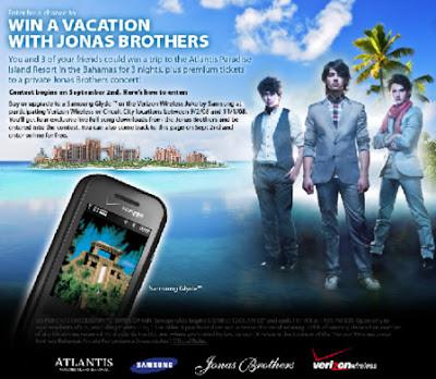 vacaciones con Jonas Brothers