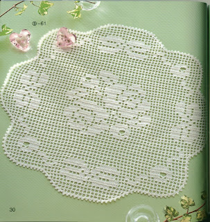 roses clothtable crochet