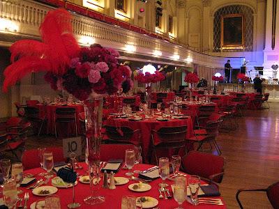 Red Purple Wedding Part 3 Centerpieces