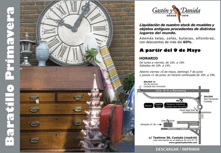 Mercadillos madrile os more liquidaci n gast n y daniela - Gaston y daniela outlet ...