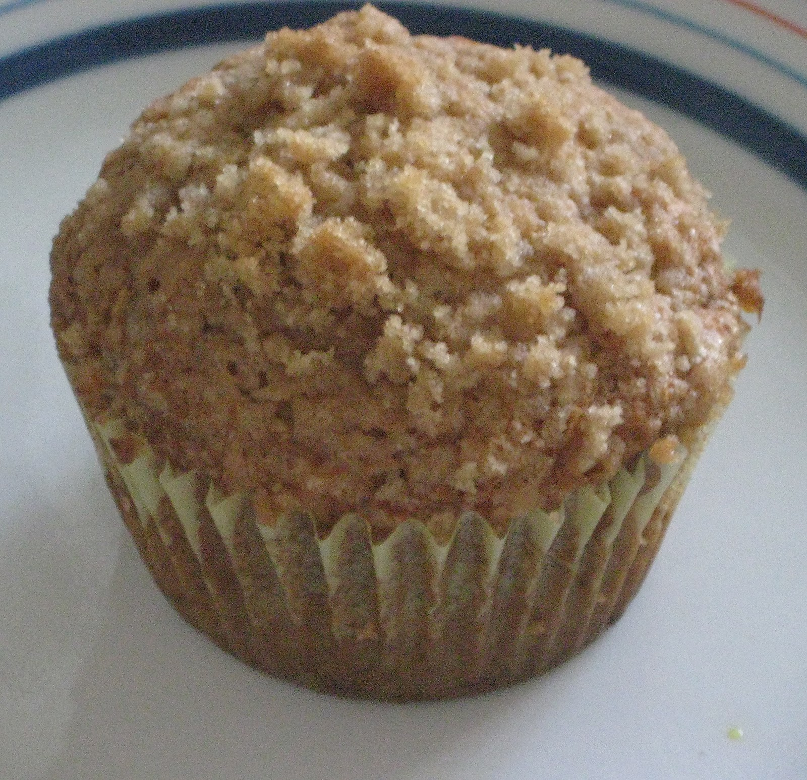 Simple Vegetarian Recipes: Eggless Banana Crumb Muffins