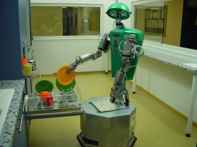 Domesro Armar The Domestic Robot Caught Washing Dishes