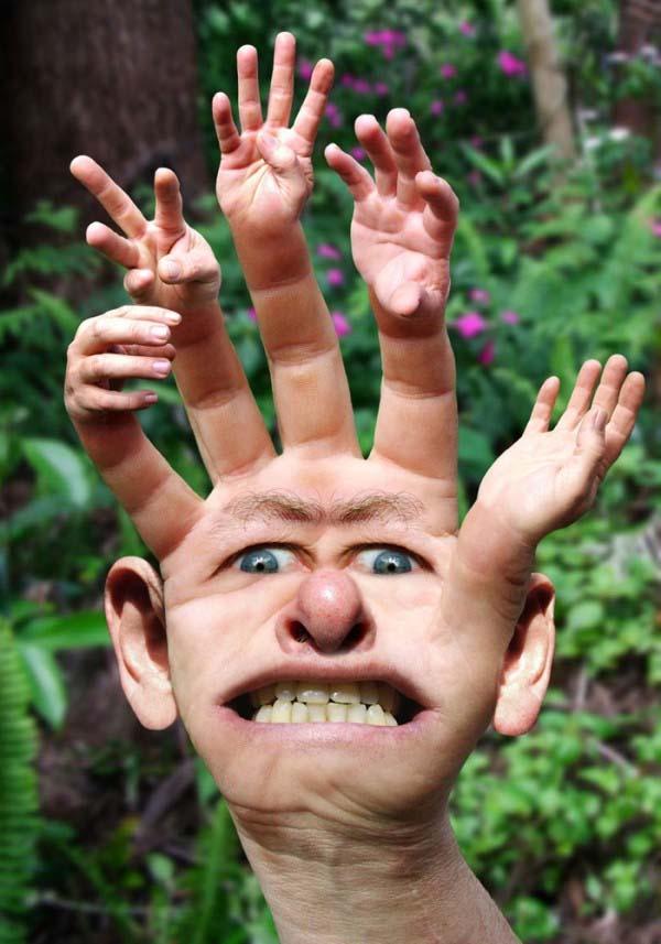 Wajahnya kok gini sih, ini benar atau rekayasa sih. benar foto aneh.