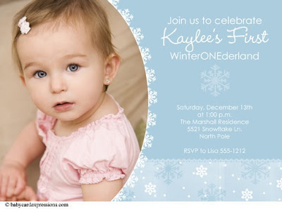 These invitations are perfect for your WinterONEderland party!