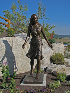 """Kelly""life-size custom bronze portrait statue