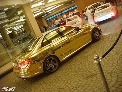 The Gold Mercedes Seen On CoolPictureGallery.blogspot.com Or www.CoolPictureGallery.com