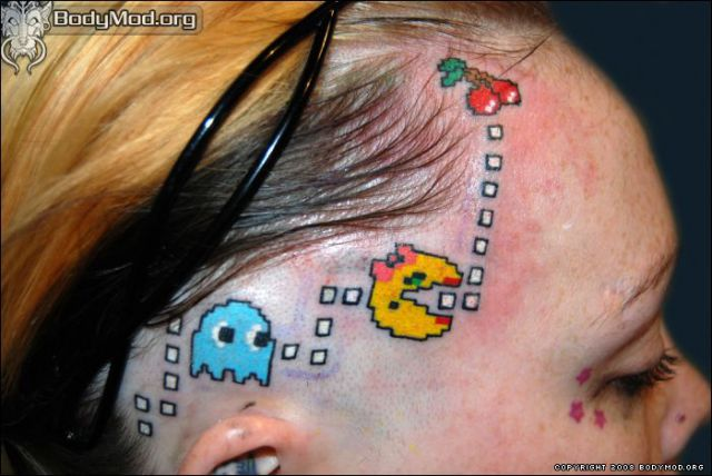 fresh pics 40 geeky video game tattoos. Black Bedroom Furniture Sets. Home Design Ideas