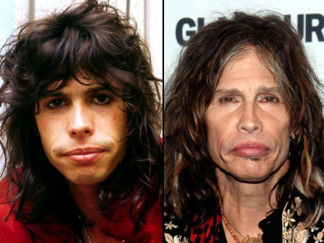 Steven Tyler, Aerosmith Rock Stars: Then and Now