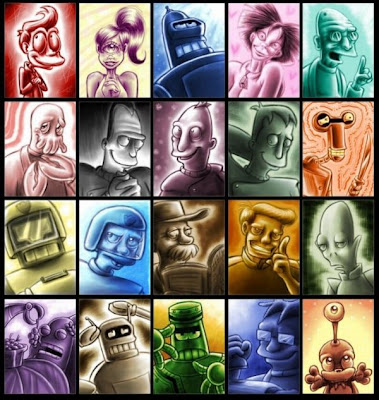 Futurama Inspired Artworks