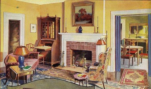 Decorating tennis girl 1930 39 s living room for Living room 1930s