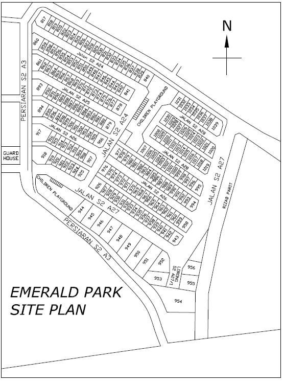 Emerald Park Seremban 2 Site Plan