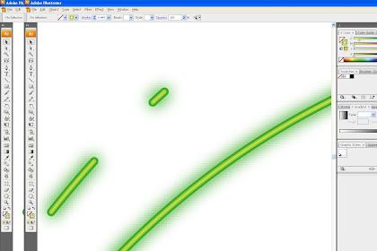 Membuat inner atau outer glow di illustrator