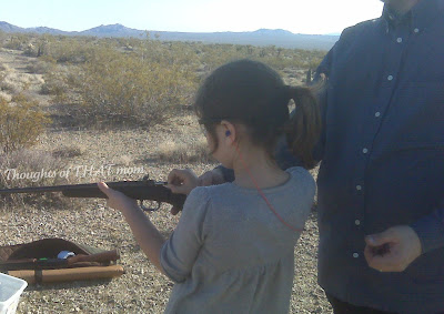 8yr old gets ready to shoot
