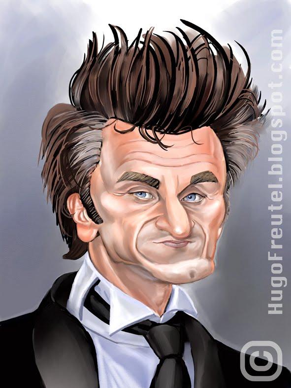 [Sean+Penn++portrait+caricature,+portret+karikatuur©+Hugo+Freutel]