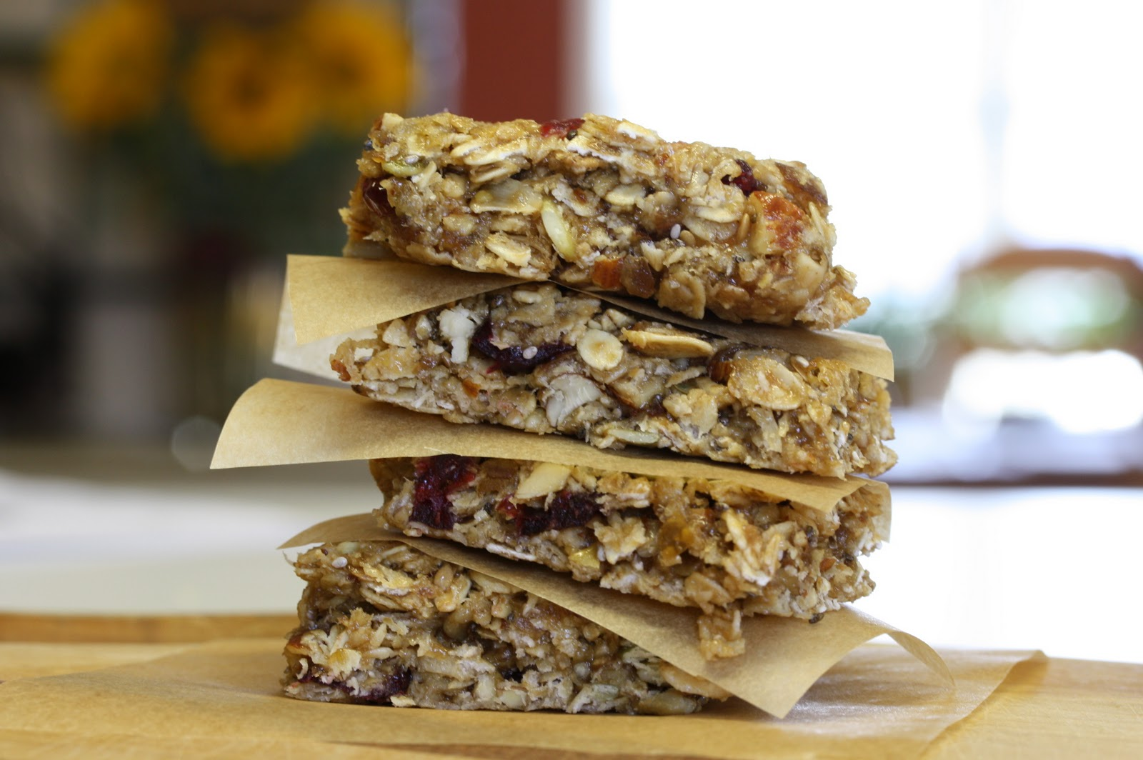Tricia s kitchen sink nut seed and granola bars