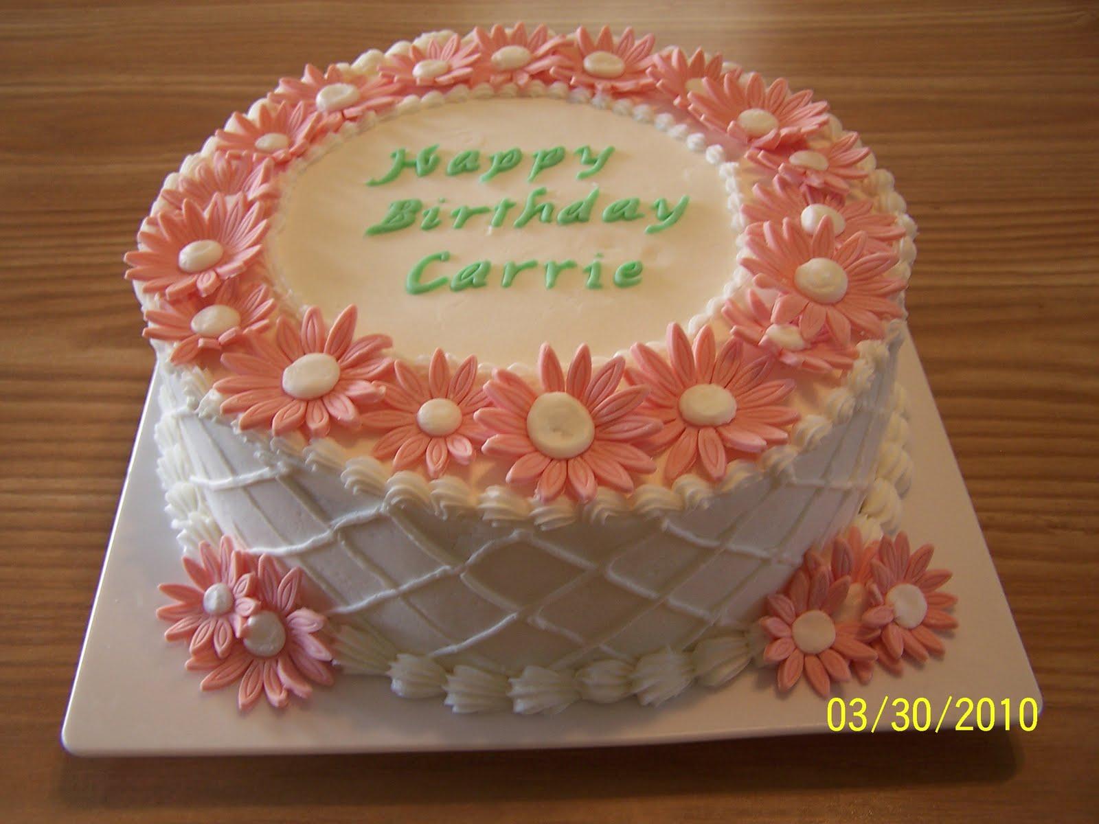 Edees Custom Cakes Daisy Birthday Cake