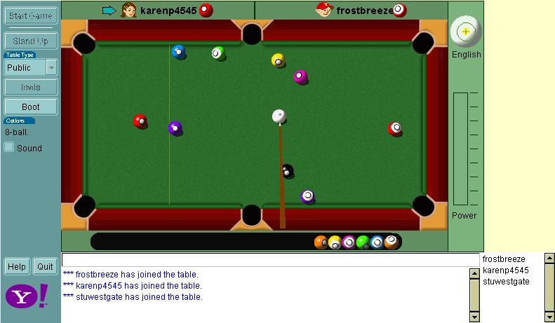 yahoo games pool