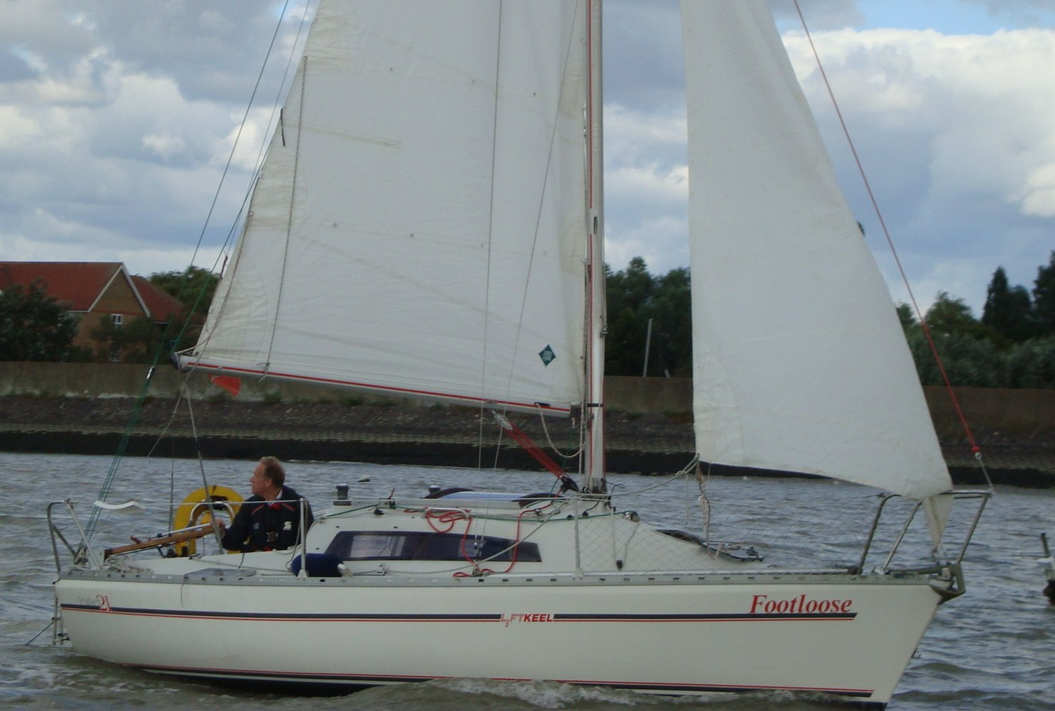 The Parker 21 was designed as a high performance trailer sailer, ...