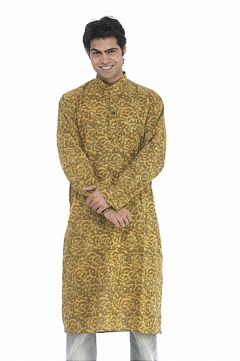 Mehndi For Gents : Trends of mehndi events green cotton kurta for gents
