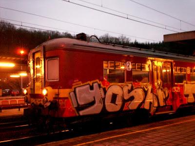 Yoshi train graffiti