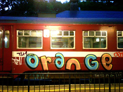 orange graffiti