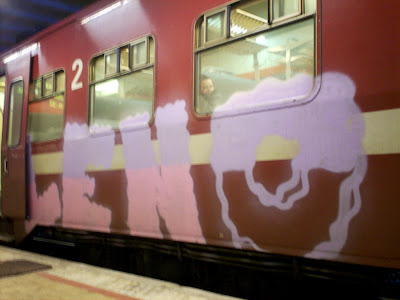 series of graffiti