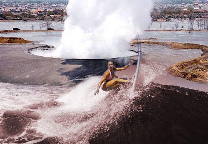 LUMPUR MUNCRAT RAKYAT MELARAT Mimpiku.. Surfing di Lumpur Panas Lapindo
