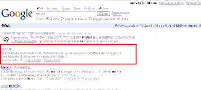 Italia.it top result per merda