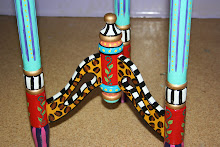 "Funky Base of the ""Carousel"" Side Table"