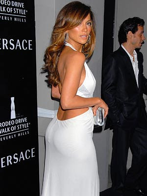 jennifer lopez famous buttocks