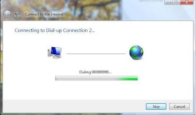 akses internet melalui dial-up