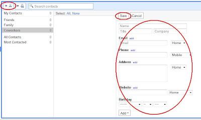 cara membuat buku alamat pada gmail