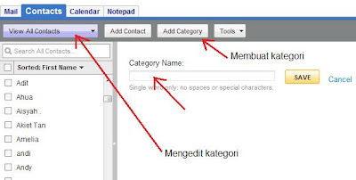 Membuat kategori pada email