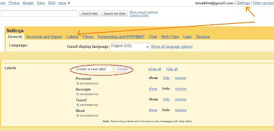 membuat folder atau label di Gmail