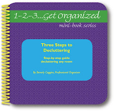 1-2-3...Get Organized Books, Workbooks, Organizing Services, and Free Stuff