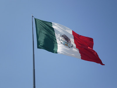 mexico flag. The largest flag of Mexico,