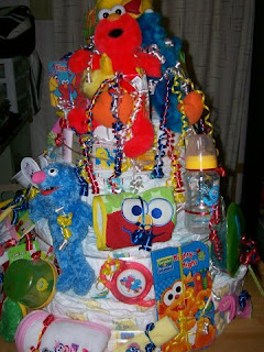 Welcome to my world sesame street diaper cake for my daughter 39 s baby shower - Sesame street baby shower ...